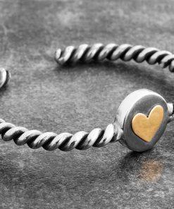 دستبند رول قلب طلا