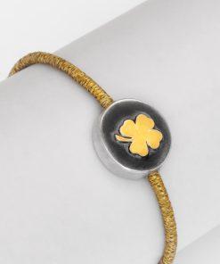 دستبند شبدر طلا دار