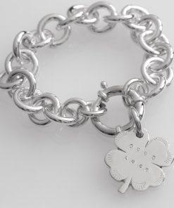 دستبند زنجیر با آویز شبدر